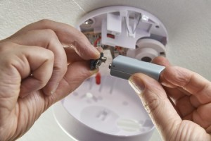 changing smoke detector batteries
